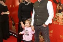 Владимир Яглыч с женой и дочерью